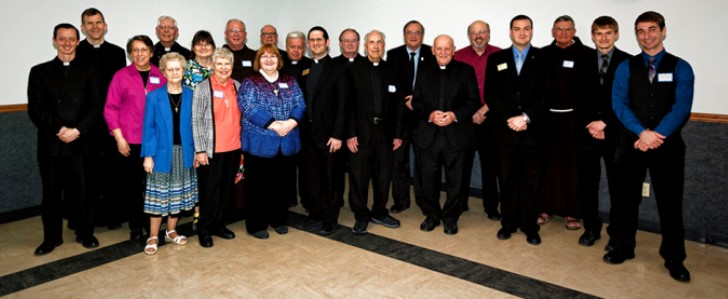 HONOREES at the vocations dinner in Batesville