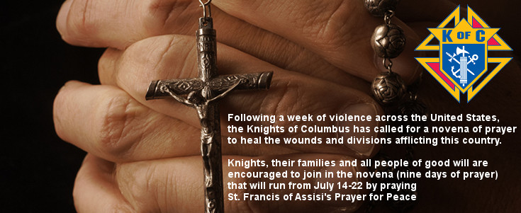 Knights of Columbus Urges Prayers for Healing